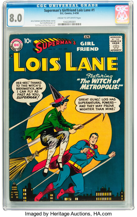 Superman's Girlfriend Lois Lane #1 (DC, 1958) CGC VF 8.0 Cream to off-white pages....