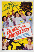 Memorabilia:Poster, Blades of the Musketeers Movie Poster (Howco, 1953)....