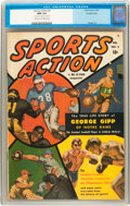 Golden Age (1938-1955):Non-Fiction, Sports Action #2 Double Cover (Atlas, 1950) CGC NM 9.4 Cream tooff-white pages....