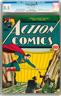 Action Comics #34 (DC, 1941) CGC VF+ 8.5 Off-white to white pages