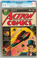 Golden Age (1938-1955):Superhero, Action Comics #12 (DC, 1939) CGC FR/GD 1.5 Off-white to white pages....