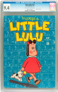 Four Color #74 Marge's Little Lulu (#1) (Dell, 1945) CGC NM 9.4 Off-white to white pages