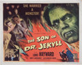 Memorabilia:Poster, The Son of Dr. Jekyll Movie Poster (Columbia, 1951)....