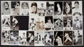 Baseball Collectibles:Others, Cleveland Indians Signed Photograph Postcards Lot of 37....