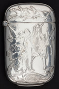 Silver Smalls:Match Safes, A WEBSTER SILVER MATCH SAFE . Webster Company, North Attleboro,Massachusetts, circa 1900. Marks: STERLING. 2-3/8 inche...