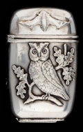 Silver & Vertu:Smalls & Jewelry, A SHIEBLER SILVER MATCH SAFE . George W. Shiebler & Co., New York, New York, circa 1880. Marks: (winged S), TIFFANY & CO.,...