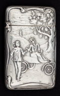 Silver Smalls:Match Safes, A MARSHALL FIELD SILVER MATCH SAFE . Marshall Field and Company,Chicago, Illinois, circa 1900. Marks: MF.,STERLING. 2-3...