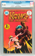 Bronze Age (1970-1979):Miscellaneous, Kong the Untamed #1 (DC, 1975) CGC NM 9.4 White pages....