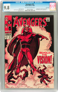 Silver Age (1956-1969):Superhero, The Avengers #57 Twin Cities pedigree (Marvel, 1968) CGC NM/MT 9.8Off-white to white pages....