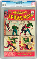 Silver Age (1956-1969):Superhero, The Amazing Spider-Man #4 (Marvel, 1963) CGC VF 8.0 White pages....