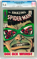 Silver Age (1956-1969):Superhero, The Amazing Spider-Man #55 (Marvel, 1967) CGC NM+ 9.6 Off-white pages....