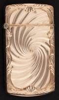 Silver Smalls:Match Safes, A FOSTER GOLD MATCH SAFE . Theodore W. Foster & Bros. Co.,Providence, Rhode Island, circa 1900. Marks: F & B, 1/10GOLD, ...