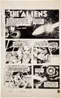 "Original Comic Art:Panel Pages, Russ Manning Magnus Robot Fighter #1 ""Captain Johner and TheAliens"" Page 29 Original Art (Gold Key, 1963)...."