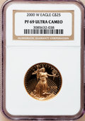 Modern Bullion Coins: , 2000-W G$25 Half-Ounce Gold Eagle PR69 Ultra Cameo NGC. NGC Census:(736/501). PCGS Population (1057/93). Numismedia Wsl. ...