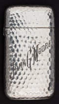 Silver Smalls:Match Safes, A DOMINICK & HAFF SILVER MATCH SAFE . Dominick & Haff, NewYork, New York, circa 1900. Marks: (rectangle-circle-diamond),...