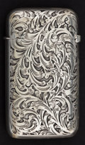 Silver Smalls:Match Safes, A WOODS & CHATELLIER SILVER MATCH SAFE . Woods &Chatellier, New York, New York, circa 1905. Marks: STERLING,(oval-diam...