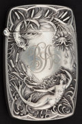 Silver Smalls:Match Safes, A BATTIN SILVER AND SILVER GILT MATCH SAFE . Battin & Co.,Newark, New Jersey, 1886. Marks: (trident with B), STERLING225...