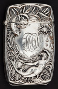 Silver Smalls:Match Safes, A BATTIN SILVER COMBINATION MATCH SAFE AND PHOTO HOLDER . Battin& Co., Newark, New Jersey, circa 1886. Marks: (trident wit...