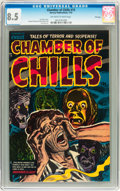 Golden Age (1938-1955):Horror, Chamber of Chills #15 File Copy (Harvey, 1953) CGC VF+ 8.5Off-white to white pages....