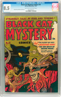 Golden Age (1938-1955):Horror, Black Cat Mystery #31 (Harvey, 1951) CGC VF+ 8.5 Light tan tooff-white pages....