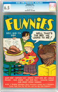 Platinum Age (1897-1937):Miscellaneous, The Funnies #15 (Dell, 1937) CGC FN+ 6.5 Slightly brittle pages....