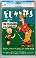 Platinum Age (1897-1937):Miscellaneous, The Funnies #14 (Dell, 1937) CGC FN/VF 7.0 Light tan to off-white pages....