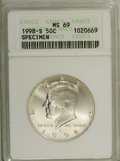 SMS Kennedy Half Dollars: , 1998-S 50C SMS MS69 ANACS. NGC Census: (507/175). PCGS Population (1320/146). Numismedia Wsl. Price: $310. (#6775)...