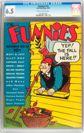 Platinum Age (1897-1937):Miscellaneous, The Funnies #13 (Dell, 1937) CGC FN+ 6.5 Slightly brittle pages....