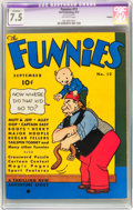 Platinum Age (1897-1937):Miscellaneous, The Funnies #12 (Dell, 1937) CGC Apparent VF- 7.5 Off-whitepages....