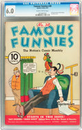 Platinum Age (1897-1937):Miscellaneous, Famous Funnies #38 (Eastern Color, 1937) CGC FN 6.0 Slightlybrittle pages....