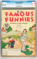 Platinum Age (1897-1937):Miscellaneous, Famous Funnies #35 (Eastern Color, 1937) CGC FN+ 6.5 Slightlybrittle pages....