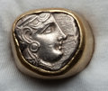 Ancients:Ancient Lots  , Ancients: COIN JEWELRY. Athens tetradrachm (ca. 350-294 BC) mountedin modern gold ring. ...