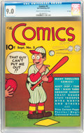 Platinum Age (1897-1937):Miscellaneous, The Comics #5 File Copy (Dell, 1937) CGC VF/NM 9.0 Cream tooff-white pages....