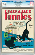 Golden Age (1938-1955):Adventure, Crackajack Funnies #12 Lost Valley pedigree (Dell, 1939) CGC FN/VF 7.0 Light tan to off-white pages....