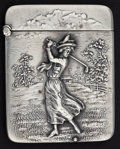 Silver Smalls:Match Safes, AN AMERICAN SILVER GOLF MATCH SAFE . Unknown maker, American, circa1900. Marks: STERLING. 2-1/4 inches high (5.7 cm). 1...