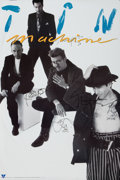 Music Memorabilia:Autographs and Signed Items, Tin Machine 1991 Band-Signed Promo Poster....