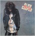 Music Memorabilia:Autographs and Signed Items, Alice Cooper Promo Poster....