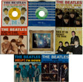 Music Memorabilia:Recordings, Beatles 45 Group of 8 with Picture Sleeves (1964-67).... (Total: 8 )