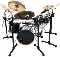 Late 1990s DW USA 19-Piece Black Drum Set
