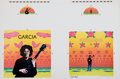 Music Memorabilia:Posters, Jerry Garcia Signed Compliments Album Cover Art Proof Sheet....