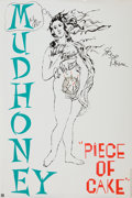 Music Memorabilia:Autographs and Signed Items, Mudhoney Band-Signed Promo Poster....