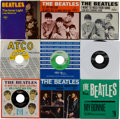 Music Memorabilia:Recordings, Beatles 45 and Picture Sleeve Group of 8 (1964-68).... (Total: 8 )