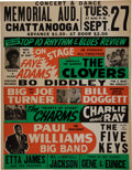 Music Memorabilia:Posters, Bo Diddley Rare Early Concert Poster (1955)....