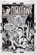 Original Comic Art:Covers, Joe Kubert Tomahawk #135 Grey Tone Cover Original Art (DC,1971)....
