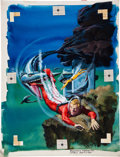 Original Comic Art:Covers, George Wilson Space Family Robinson Lost in Space #22 Painted Cover Original Art (Gold Key, 1967).... (Total: 2 Items)