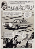 "Original Comic Art:Splash Pages, Al Williamson Eerie #3 ""Lighthouse"" Title Page Original Art(Warren, 1966)...."