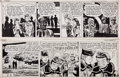 Original Comic Art:Comic Strip Art, Milton Caniff and George Wunder Terry and the Pirates DailyComic Strip Original Art Group (News Syndicate Co. Inc... (Total: 2Items)