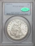 Seated Dollars, 1859-O $1 MS60 PCGS. CAC....