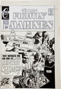 Original Comic Art:Covers, Pat Boyette Fightin' Marines #110 Midway Massacre CoverOriginal Art (Charlton, 1973)....