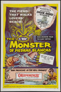 "Movie Posters:Horror, The Monster of Piedras Blancas (Film Service Distributing, 1959). One Sheet (27"" X 41""). Horror.. ..."